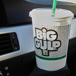 A Big Gulp on a Dashboard